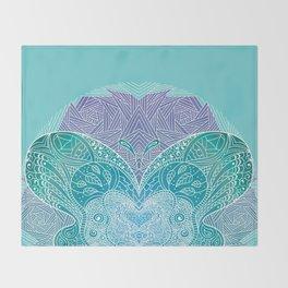 Butterfly mandala Throw Blanket