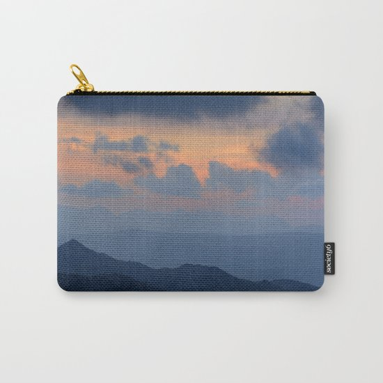 """""""Sunset at mountains"""" Mountain light Carry-All Pouch"""