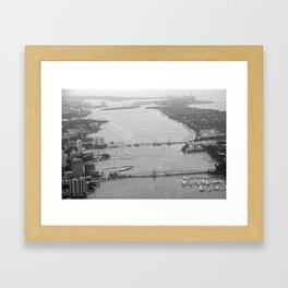 Palm Beach Aerial B&W: www.scsprints.com Framed Art Print
