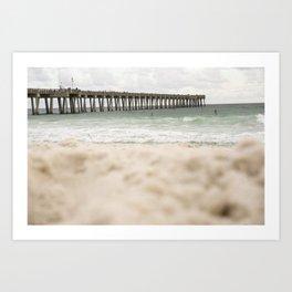 Sand at the pier - Panama City Beach Art Print