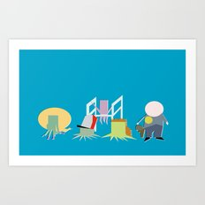 Minimal Squidbillies Art Print