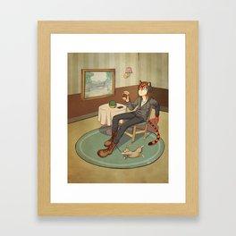 Just Chillin' Framed Art Print
