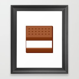 Box Ice Cream Sandwich Framed Art Print