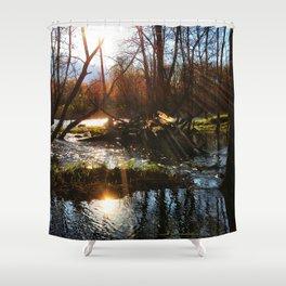 Sunrise River View Shower Curtain