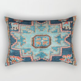 Karabakh  Antique South Caucasus Azerbaijan Rug Print Rectangular Pillow
