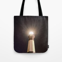 Tybee Lighthouse Under the Stars Tote Bag