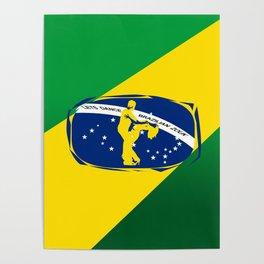 lets dance brazilian zouk flag design Poster