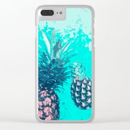 Pineapple Float Clear iPhone Case