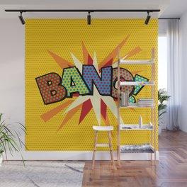 Comic Book Pop Art Sans BANG! Wall Mural