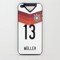 World Cup 2014 - Germany Müller Shirt Style iPhone & iPod Skin