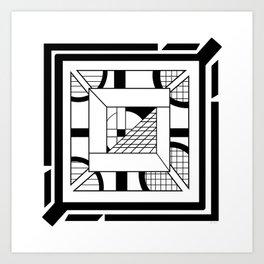 Desert Graticule - Minimal Geometric Design Art Print