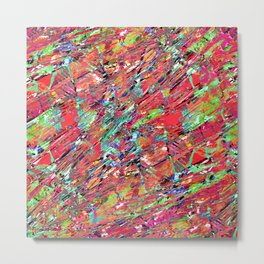 Expressive Abstract Grunge Metal Print