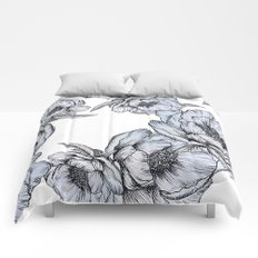 floating flowers Comforters
