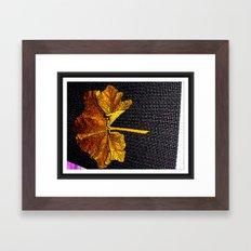 Leaf of Gold. Framed Art Print