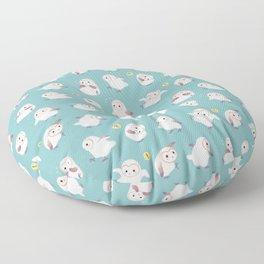 Baby Barn Owls Floor Pillow
