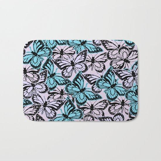 Vintage Butterflies Bath Mat