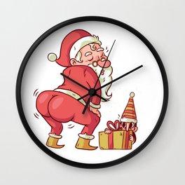 Santa Twerk Wall Clock