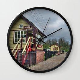 Consall signal box - colour Wall Clock