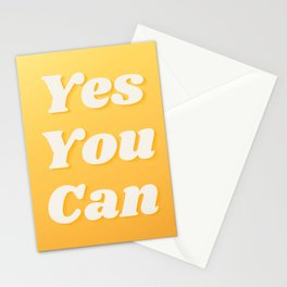 YES YOU CAN Motivation Cute Quote Stationery Cards