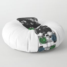 Monkey Music Retro Boombox. Floor Pillow