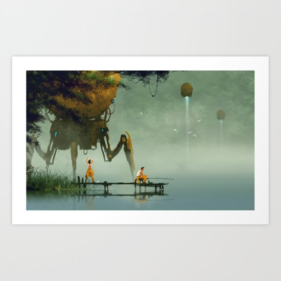 preparing to take off Art Print