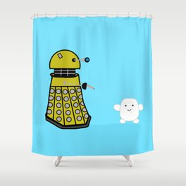 Exterminate the Fat Shower Curtain