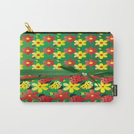 Contemporary Ladybugs Carry-All Pouch