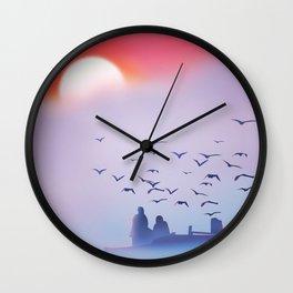 Vietnam fishing poster, Wall Clock