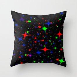 Starbursts  Throw Pillow