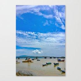 Vietnam River Side View Canvas Print