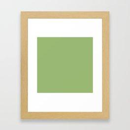 Simply Olive Green Framed Art Print