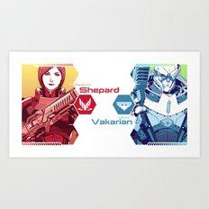 Mass Effect : Shep & Garrus Art Print