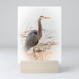 April Blue Heron Mini Art Print