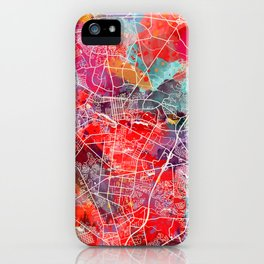 Lakewood map New Jersey painting iPhone Case