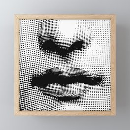 Lina Cavalieri - nose and mouth Framed Mini Art Print