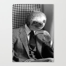 Gentleman Sloth #6 Canvas Print
