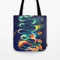 lights Tote Bags featuring Leptocephalus by Alice X. Zhang