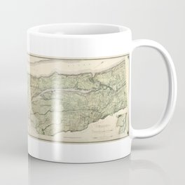 1874 Topographical Atlas of New York City (Manhattan/New Amsterdam) Coffee Mug