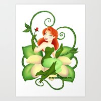 poison ivy Art Prints featuring Poison Ivy  by Katie Simpson a.k.a. Redhead-K