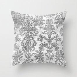 White Tapestry Throw Pillow