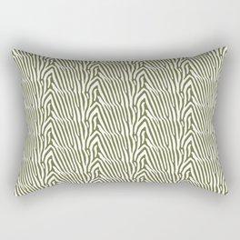 OLIVE ZEBRA STRIPE Rectangular Pillow