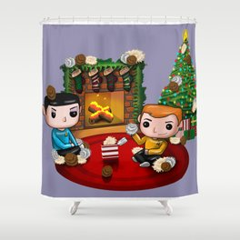 The Trouble with Christmas Shower Curtain
