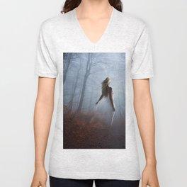 Lady In White Unisex V-Neck