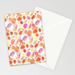 Beautiful Australiana Floral Pattern - Native Australian Flowers and Koalas Stationery Cards