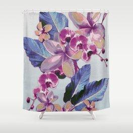 Tropical Vintage Plumerias Shower Curtain