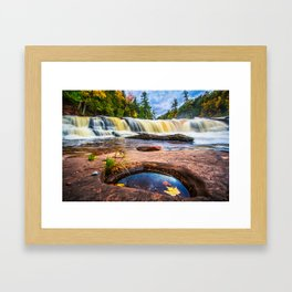 Mandio Falls - Porcupine Mountains Framed Art Print