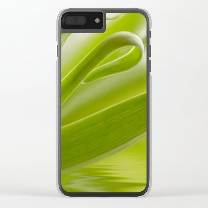 Green grass 261 Clear iPhone Case
