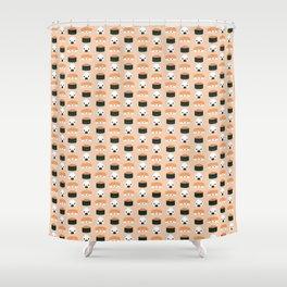 Salmon Dreams in peach, small Shower Curtain