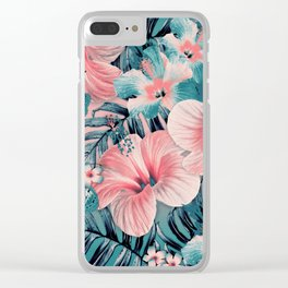 Vintage Jade Coral Aloha Clear iPhone Case