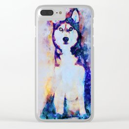 Tika'ani our Siberian Husky Clear iPhone Case